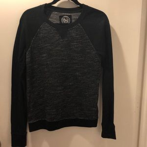 Grey and black crew neck sweater